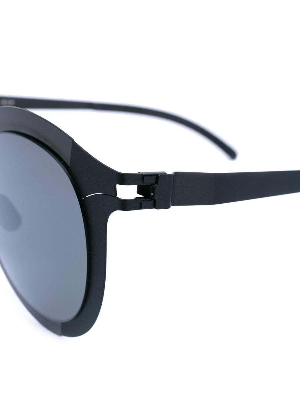 Mykita Studio 22 Shiny Round Sunglasses in Black