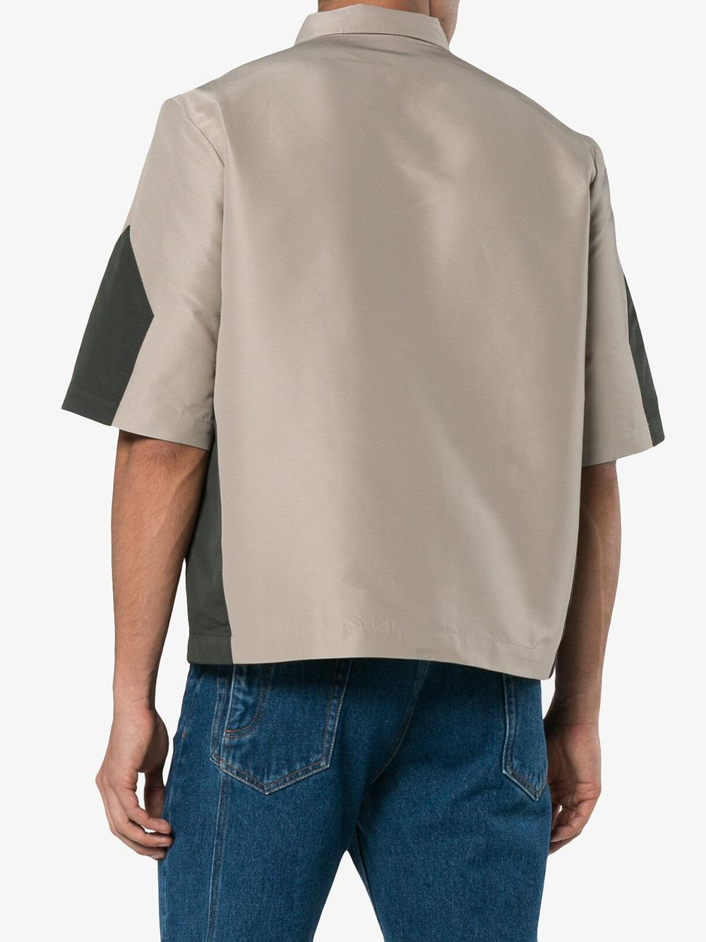 EX Infinitas Xanax Zipped Shirt Jacket in Beige (Natural) for Men