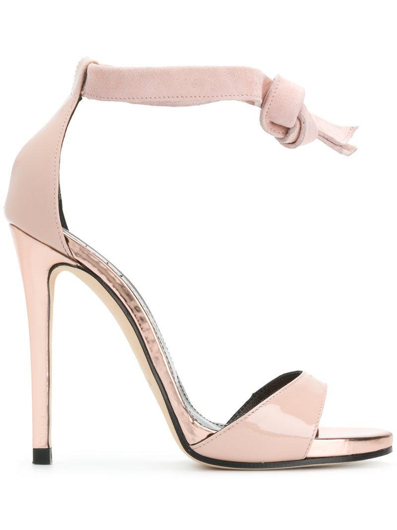 tie strap sandals - Pink & Purple Marc Ellis g0fPg2