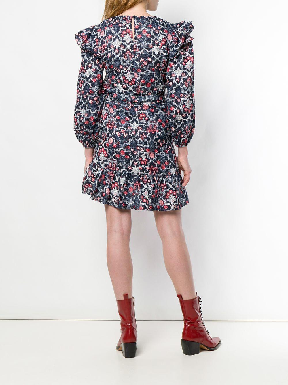 Vestido corto Telicia de lino Étoile Isabel Marant de Lino de color Azul: ahorra un 34 %