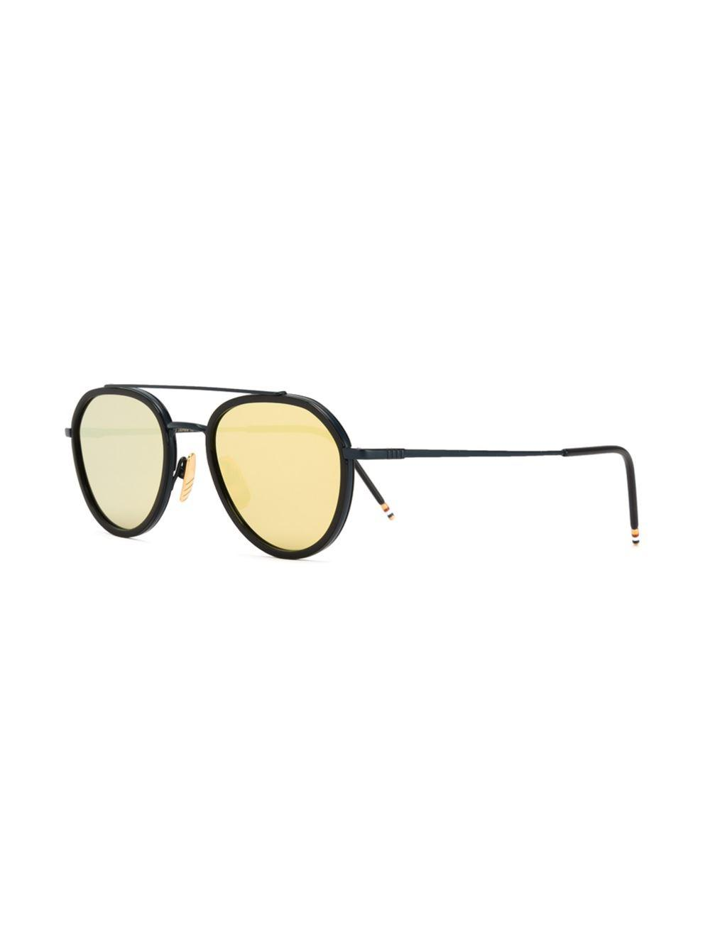 4418e7800740 Lyst - Thom Browne Round Frame Sunglasses in Black