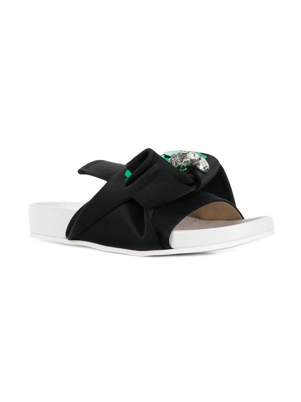 abstract bow slides - Black N°21 zEqP9