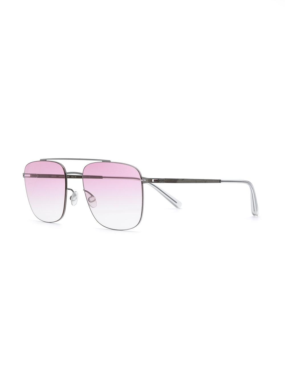 Mykita Square Gradient Sunglasses in Metallic