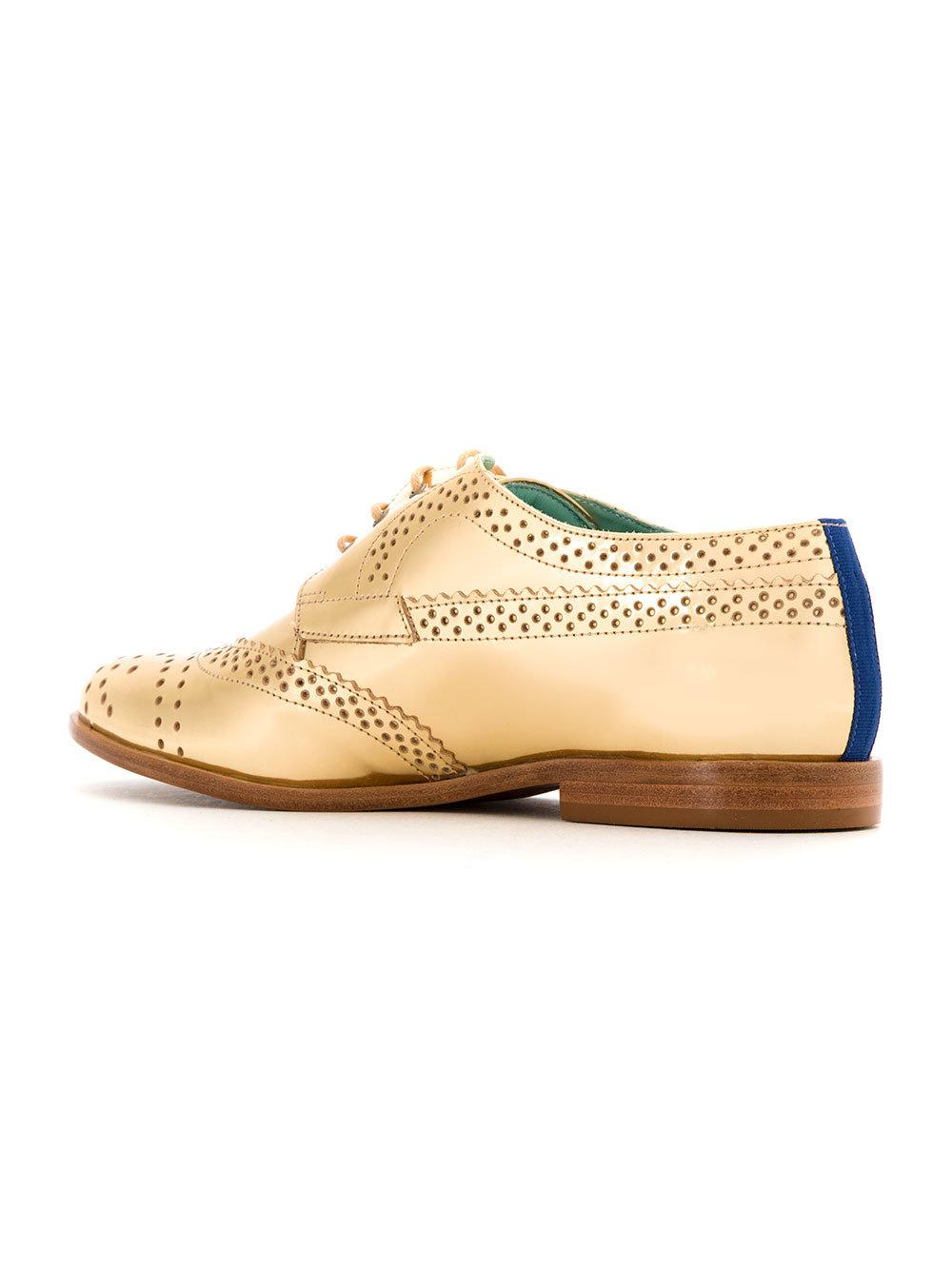 leather oxfords - Yellow & Orange Blue Bird Shoes eP1V2mvw