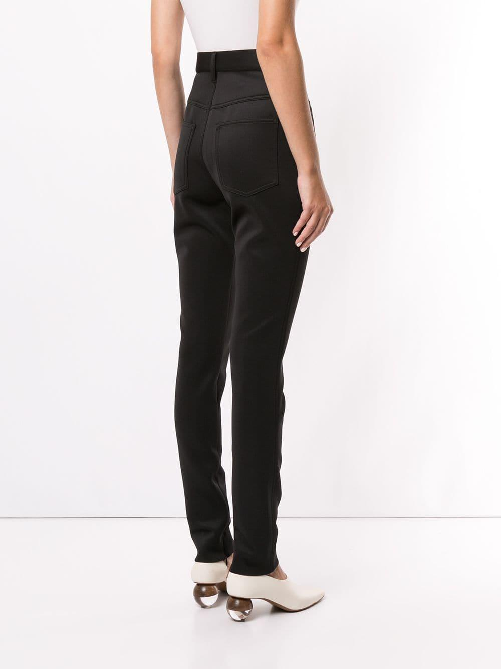 Pantalones pitillo Maison Margiela de Tejido sintético de color Negro