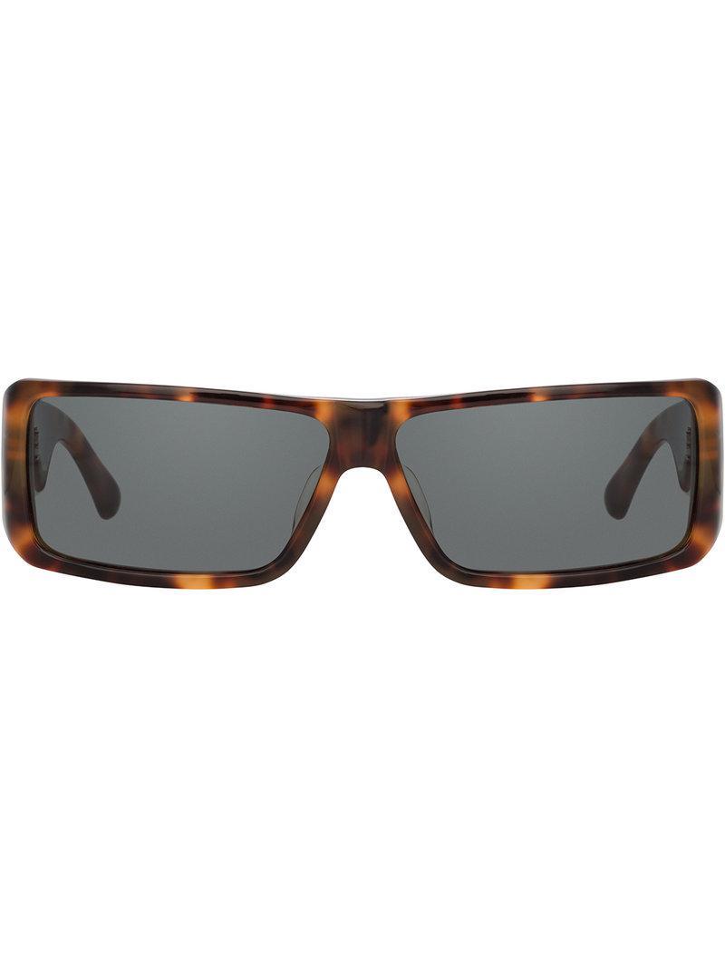5a84b88008f4 Linda Farrow Dries Van Noten Rectangular Sunglasses in Brown for Men ...