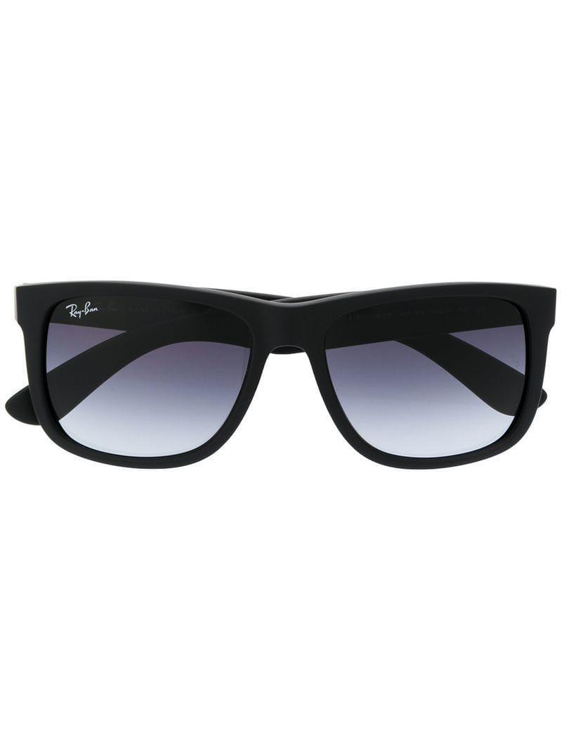 4a8cbdeafa Ray-Ban Square Frame Sunglasses in Black - Lyst