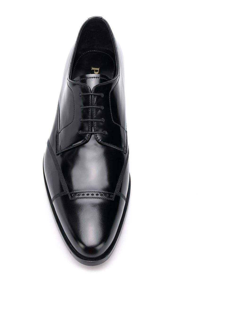 Zapatos derby Prada de Cuero de color Negro para hombre