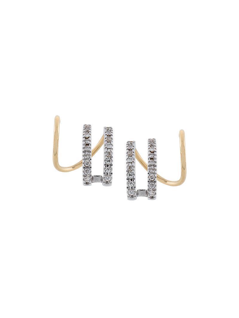 Maria Black Bess Blanc diamond earring (left) - Metallic 045itLuzC