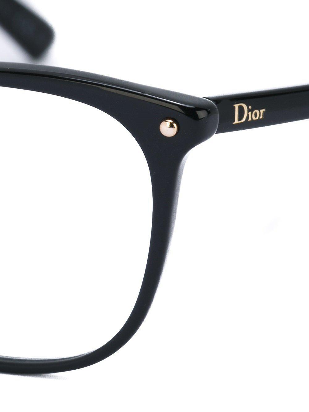 Lyst - Lunettes de vue à monture papillon Dior en coloris Noir 53d110fd541f