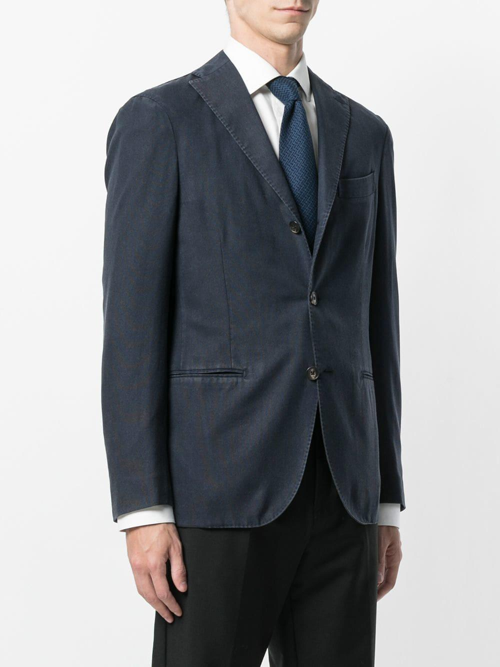 Boglioli Wol Klassiek Slim-fit Jack in het Blauw voor heren
