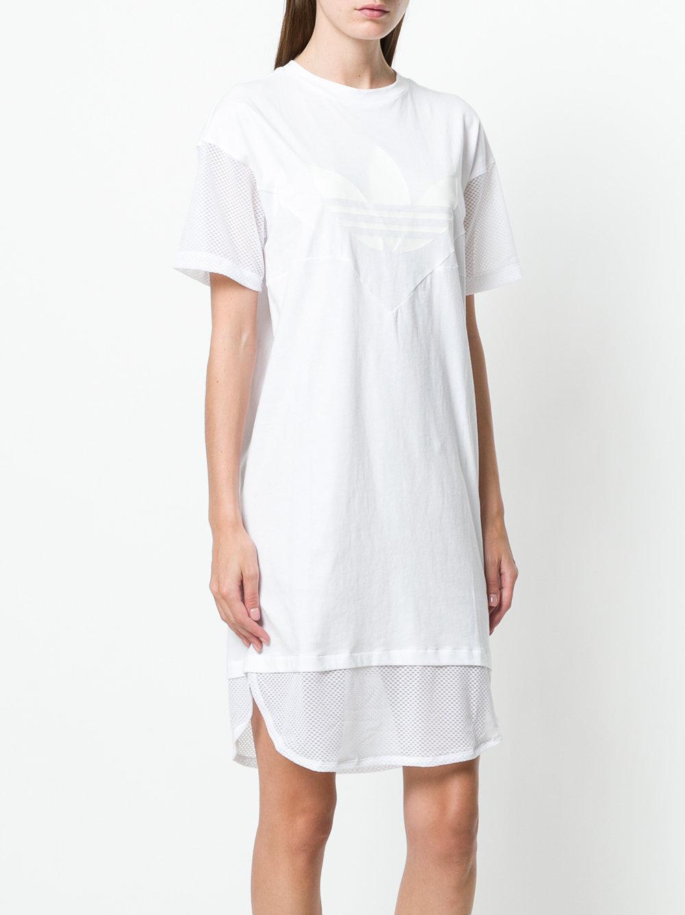 70908b33a74 Lyst - adidas Clrdo Dress in White