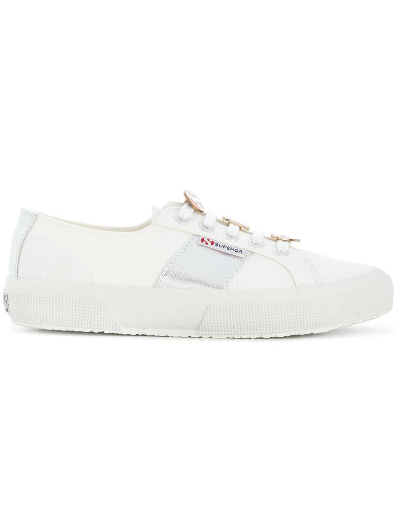 panelled platform sneakers - White Superga AthgVu