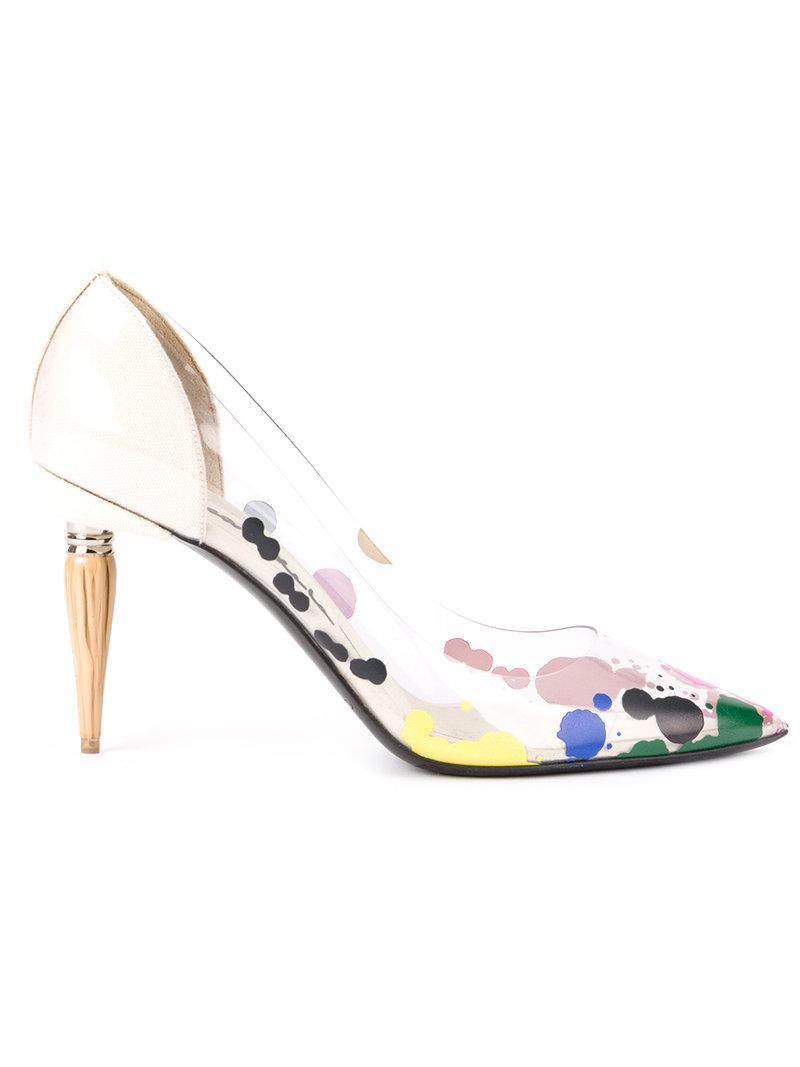 Oscar de la Renta paint spatter stilettos low price for sale uNRFj9YUZs