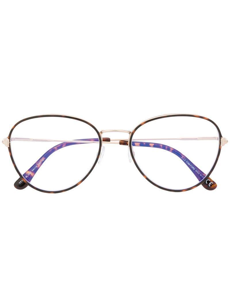 04767a14c5d7 ... Tortoiseshell Thin Frame Glasses - Lyst. View fullscreen