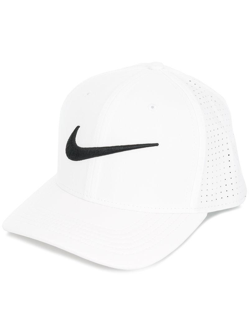 7679ca96cbd Lyst - Nike Perforated Logo Cap in White