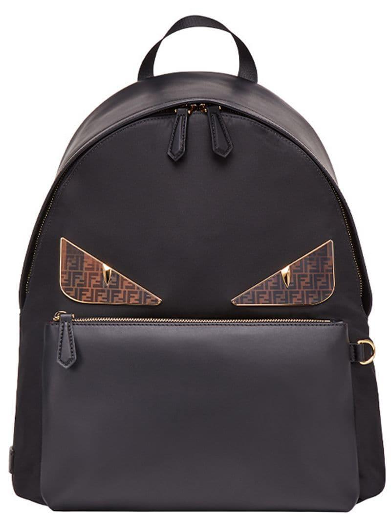 dabf51944482 Lyst - Fendi Bag Bug Backpack in Black for Men