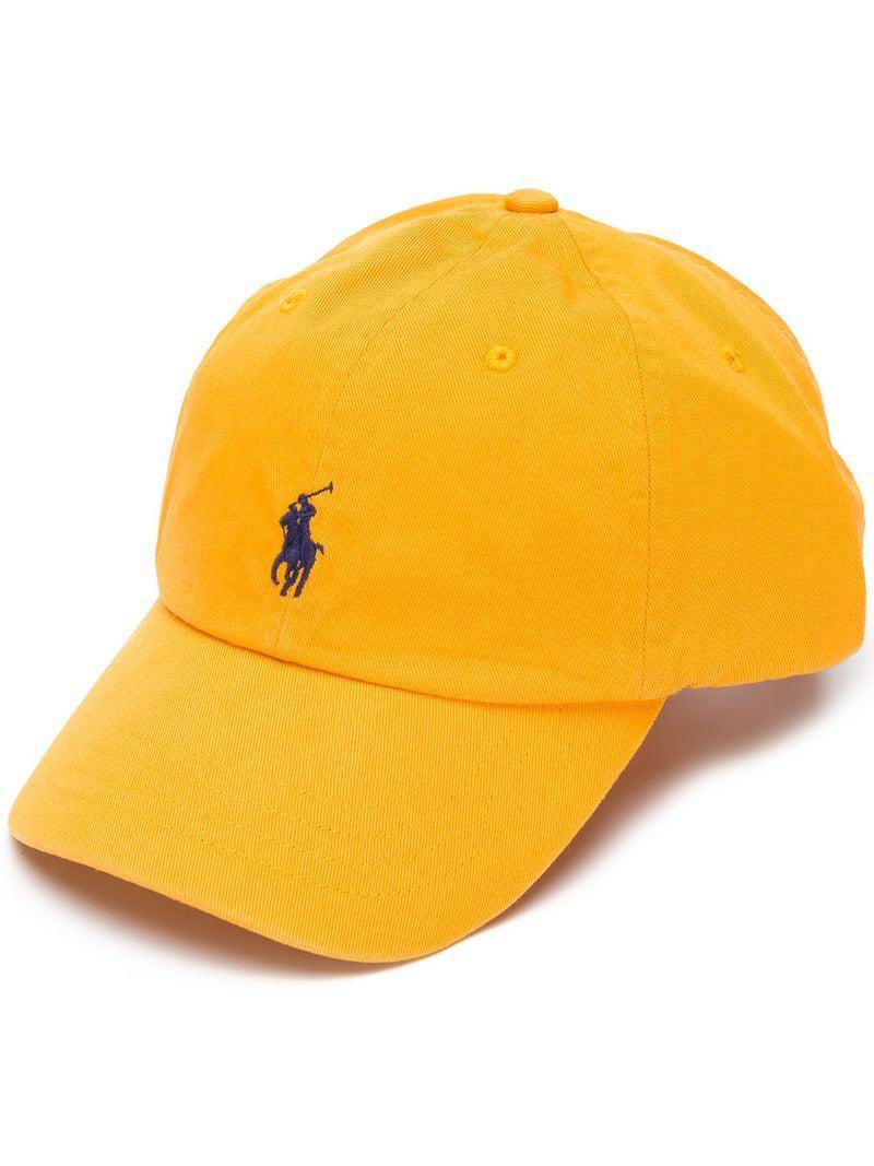 Polo Ralph Lauren Logo Hat in Yellow for Men - Lyst 318abdec90fe