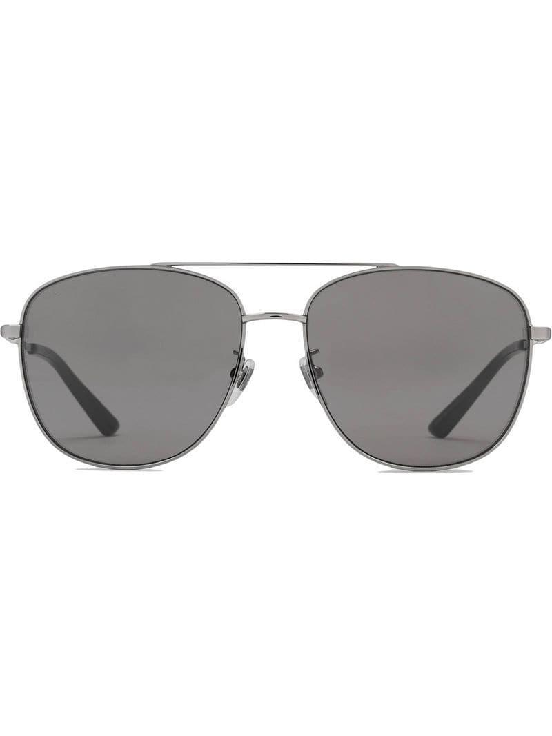 25435b5934738 Lyst - Gucci Navigator Metal Sunglasses in Metallic for Men