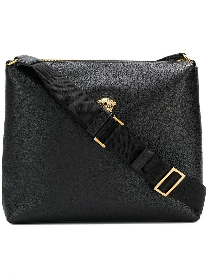 9e47247f01 Versace Medusa Messenger Bag in Black for Men - Lyst