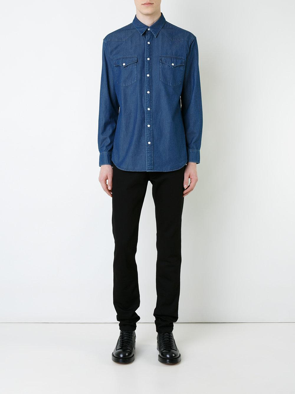 Kent & Curwen Denim Shirt in Blue for Men
