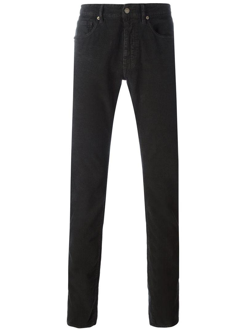 textured trousers - Brown Incotex onf1Qe7V