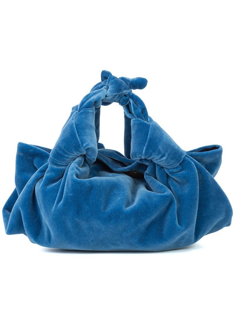 La Ligne Ascot Mini-sac - Bleu Livraison Gratuite Pas Cher DMZN2GwON