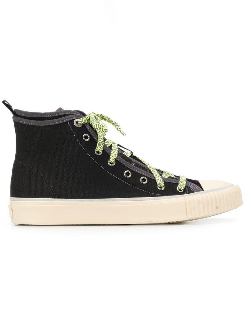 71db7f559280 Lanvin Hi-top Sneakers in Black for Men - Lyst