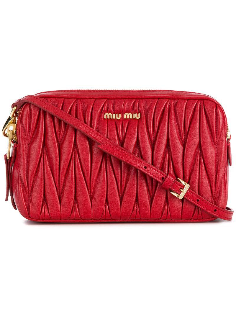 Miu Miu Chevron pleated satchel 2018 Unisex Cheap Online Discount Buy Cheap Classic EJ1FCvskGz