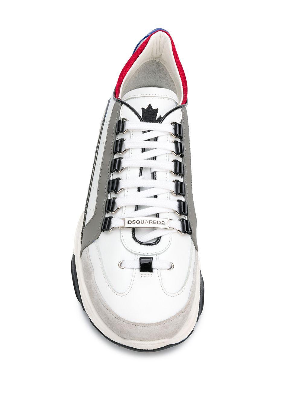Zapatillas Bumpy 551 DSquared² de Cuero de color Blanco para hombre