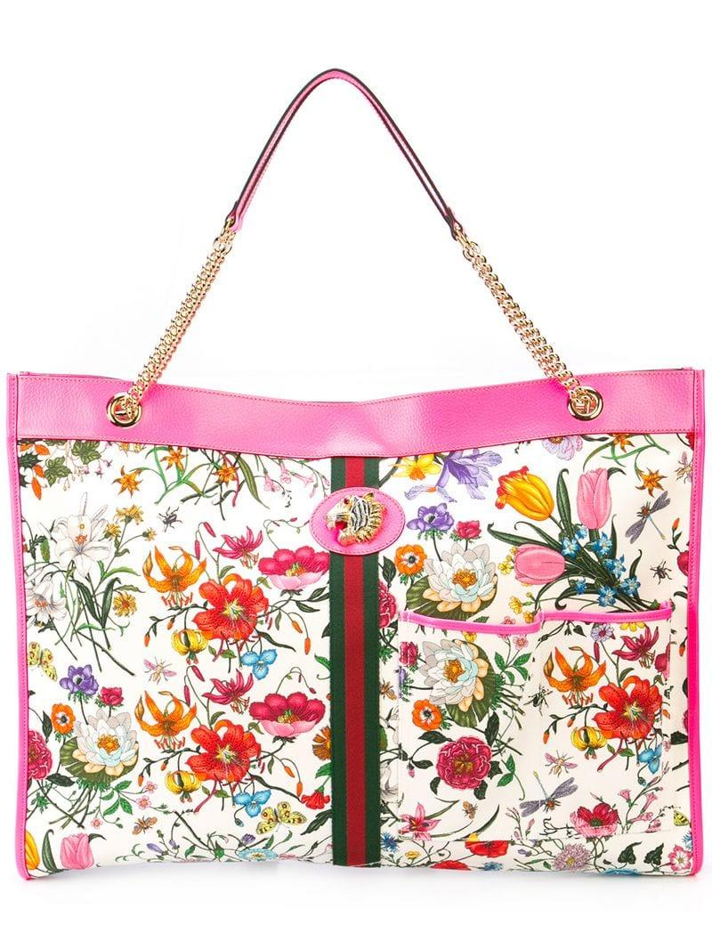 55ed5fe9a63c Gucci Rajah Maxi Tote in Pink - Save 29% - Lyst
