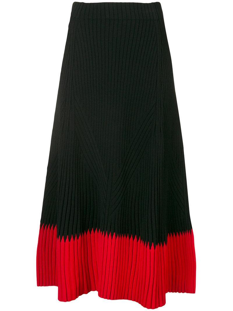 Many Kinds Of Cheap Online knitted A-line skirt - Black Alexander McQueen Visit Cheap Online Cheap Sale Best Store To Get KGKHf0svGk