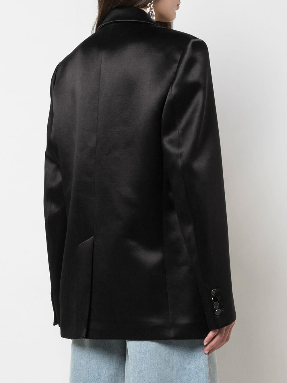 Blazer oversize Off-White c/o Virgil Abloh de Raso de color Negro