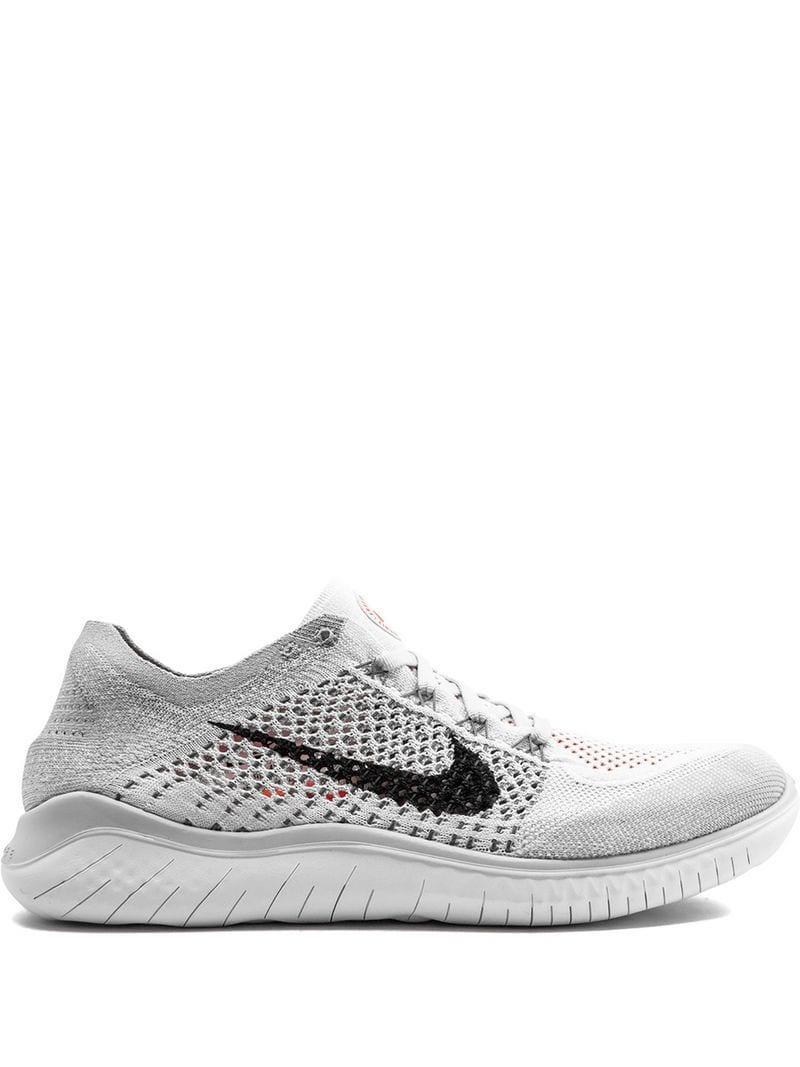 c50c10cfef2 Lyst - Nike Free Rn Flyknit 2018 Sneakers in White for Men