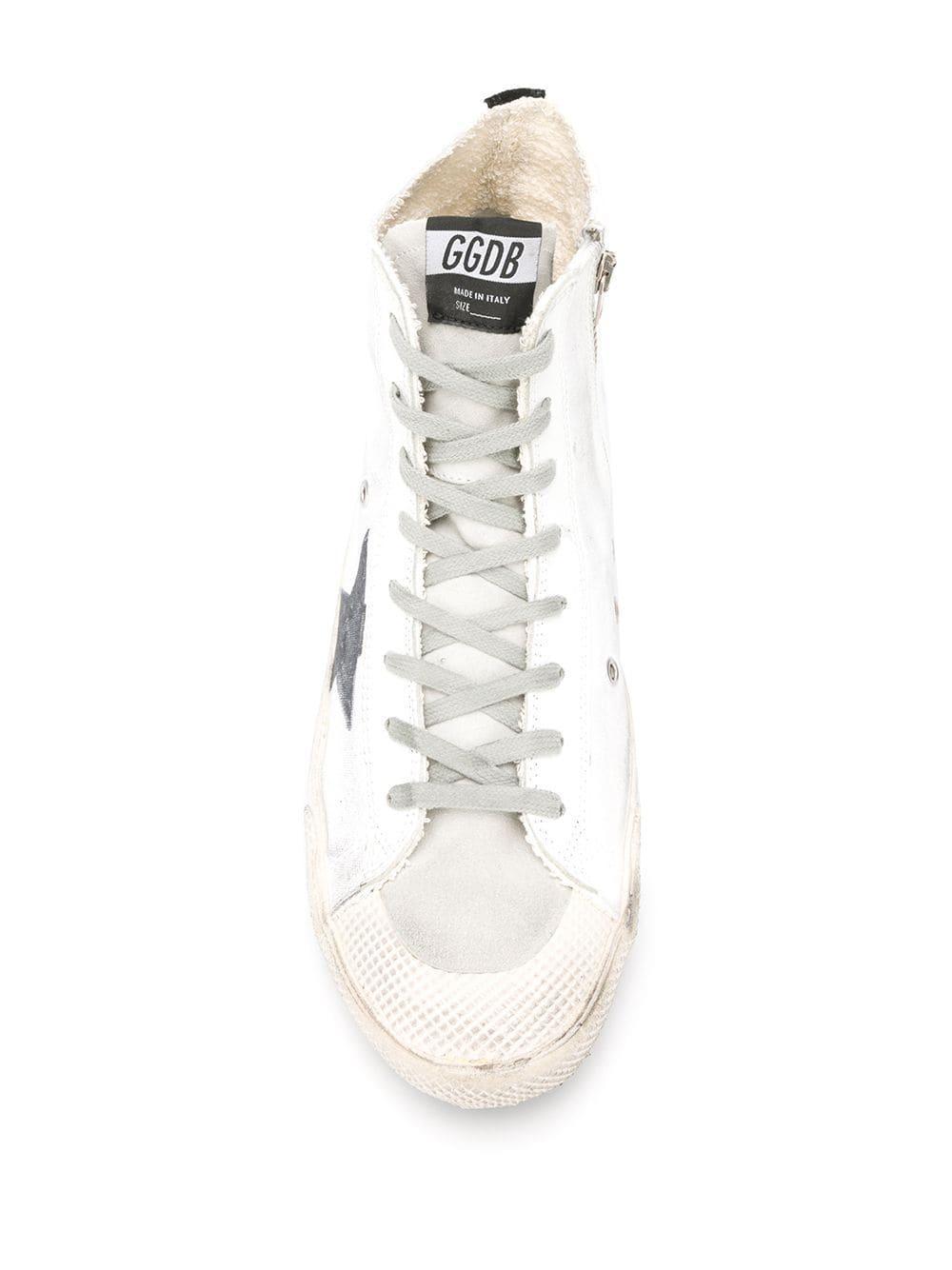 Zapatillas altas Francy Golden Goose Deluxe Brand de Caucho de color Blanco para hombre