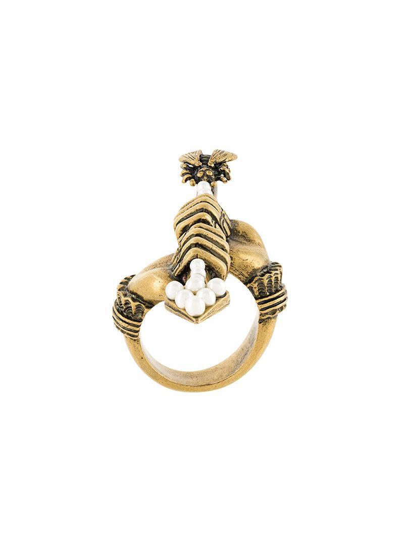 Gucci arrow ring - Metallic mO5PO