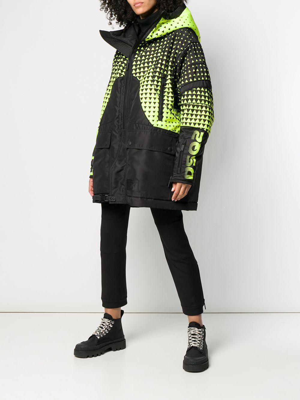 Manteau oversize à capuche à logo Synthétique DSquared² en coloris Noir FcgA3