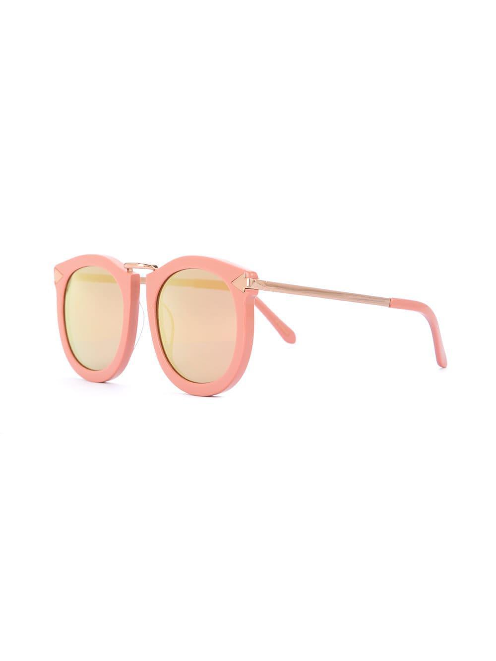 b551fb89742a Lyst - Karen Walker Super Lunar Sunglasses in Pink