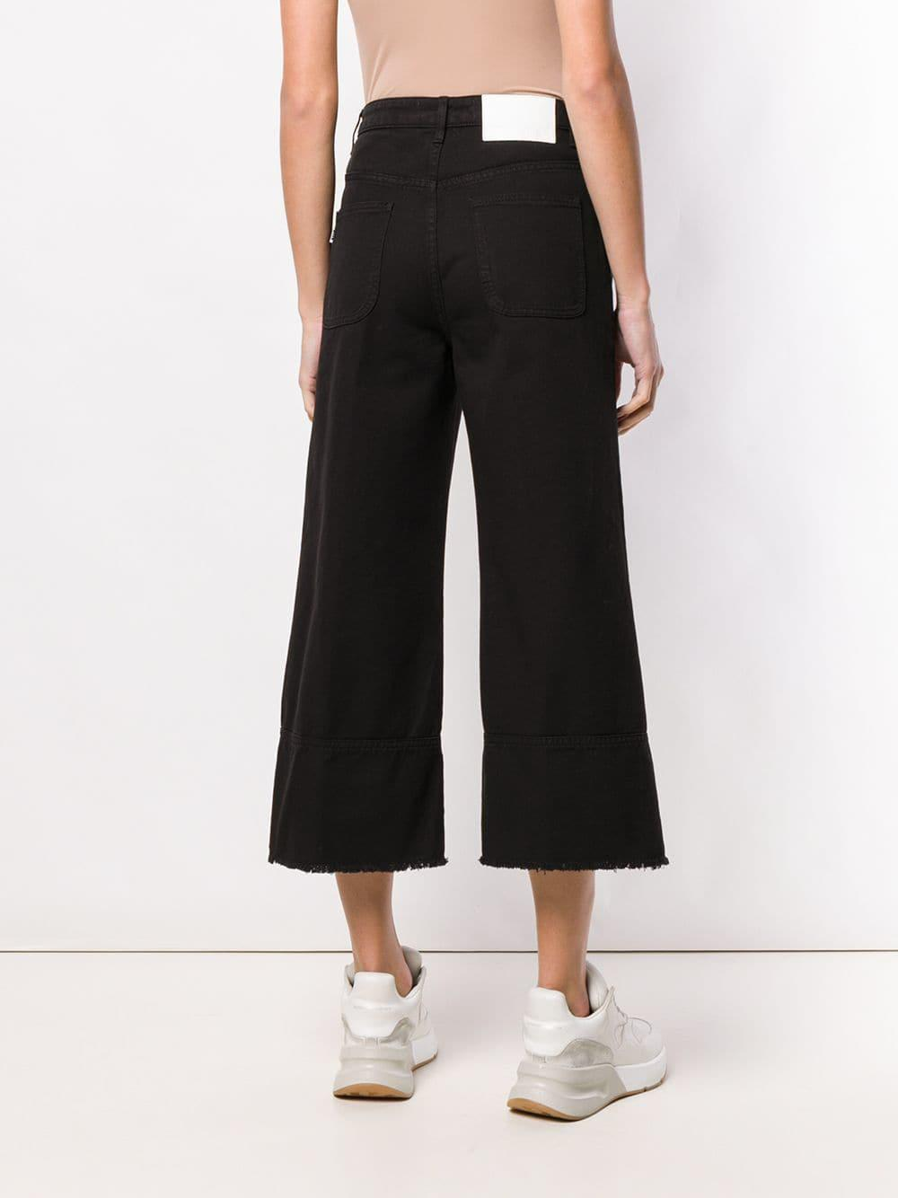 Vaqueros capri anchos MSGM de Denim de color Negro