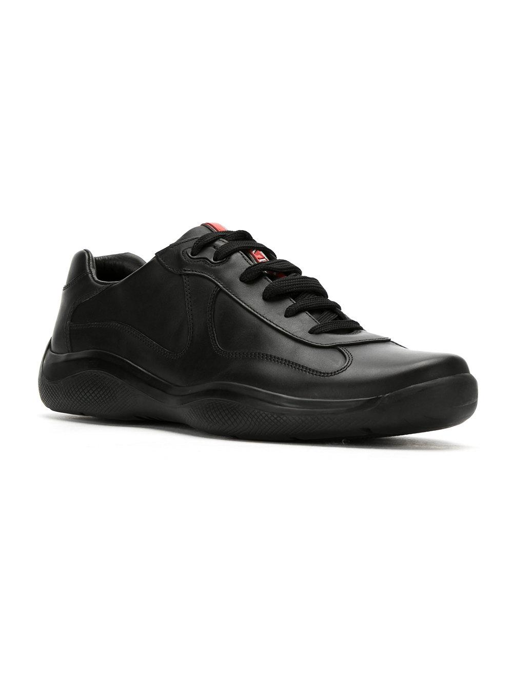 Prada Leather America ́s Cup in Black for Men