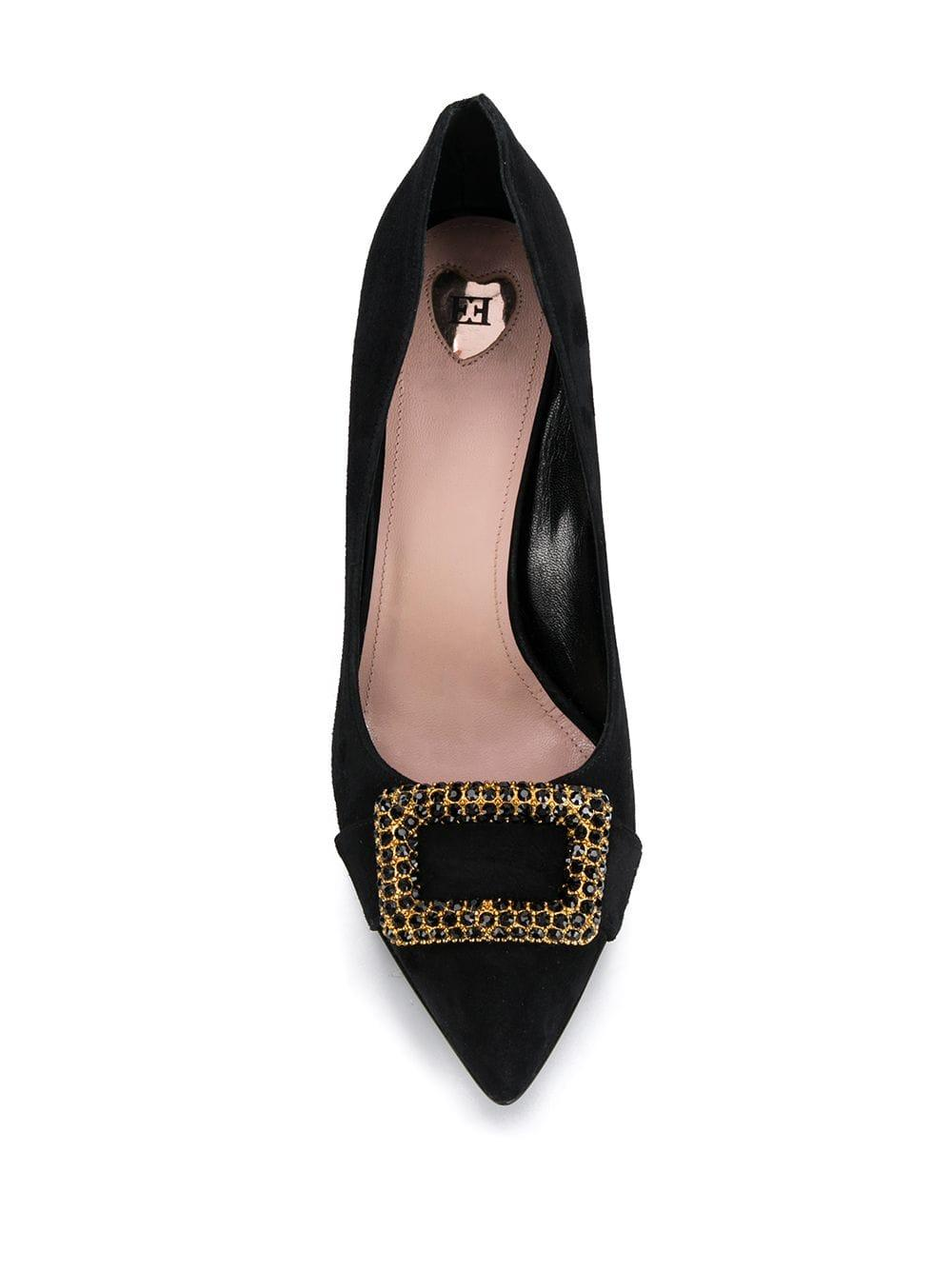Zapatos de tacón con detalles de cristal ESCADA de color Negro