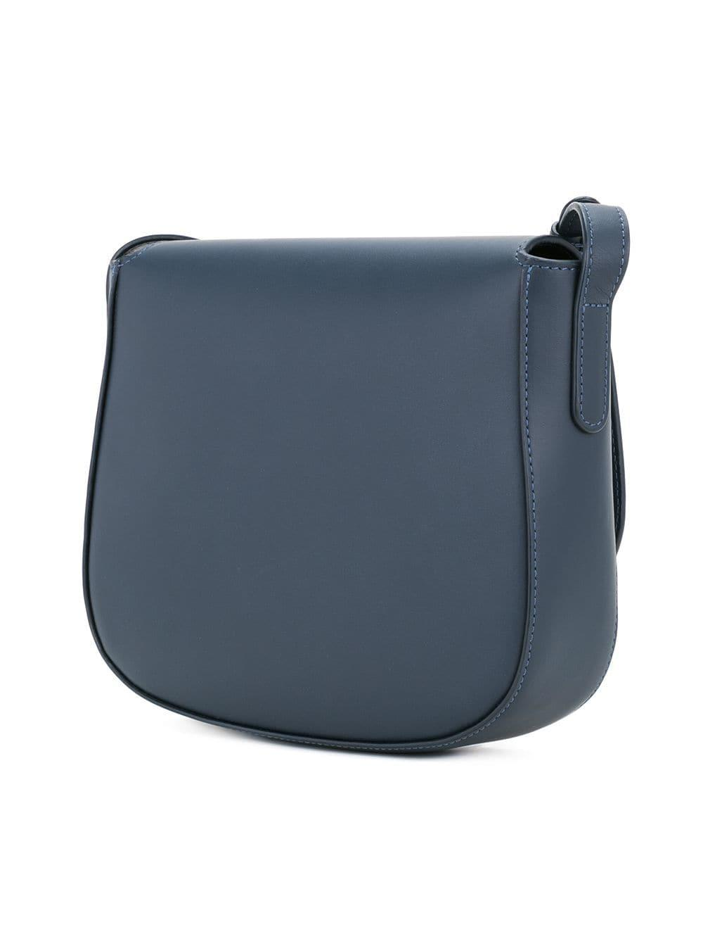 Mansur Gavriel Leather Crossbody Bag in Blue