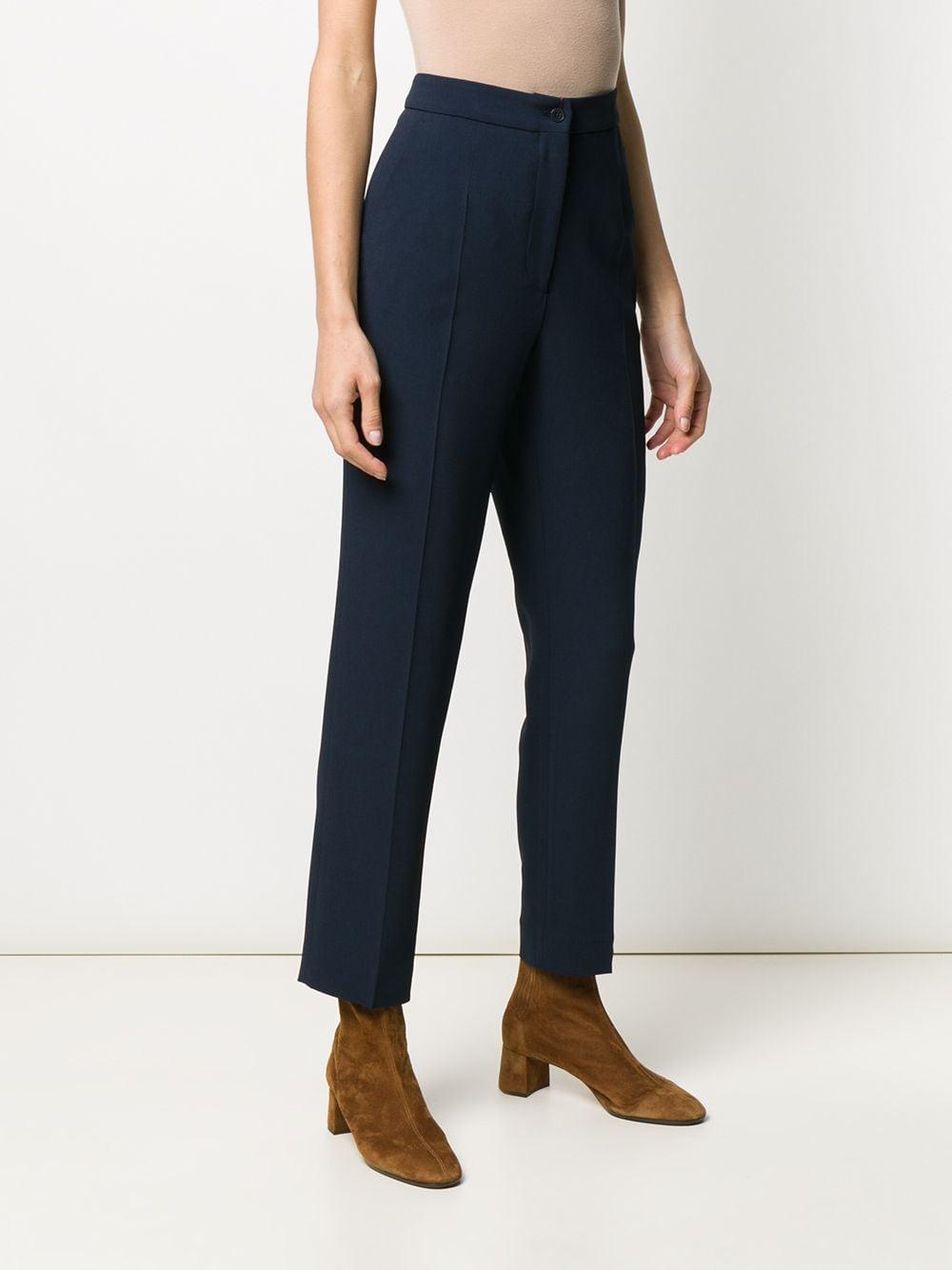 Pantalon de costume droit Synthétique Etro en coloris Bleu