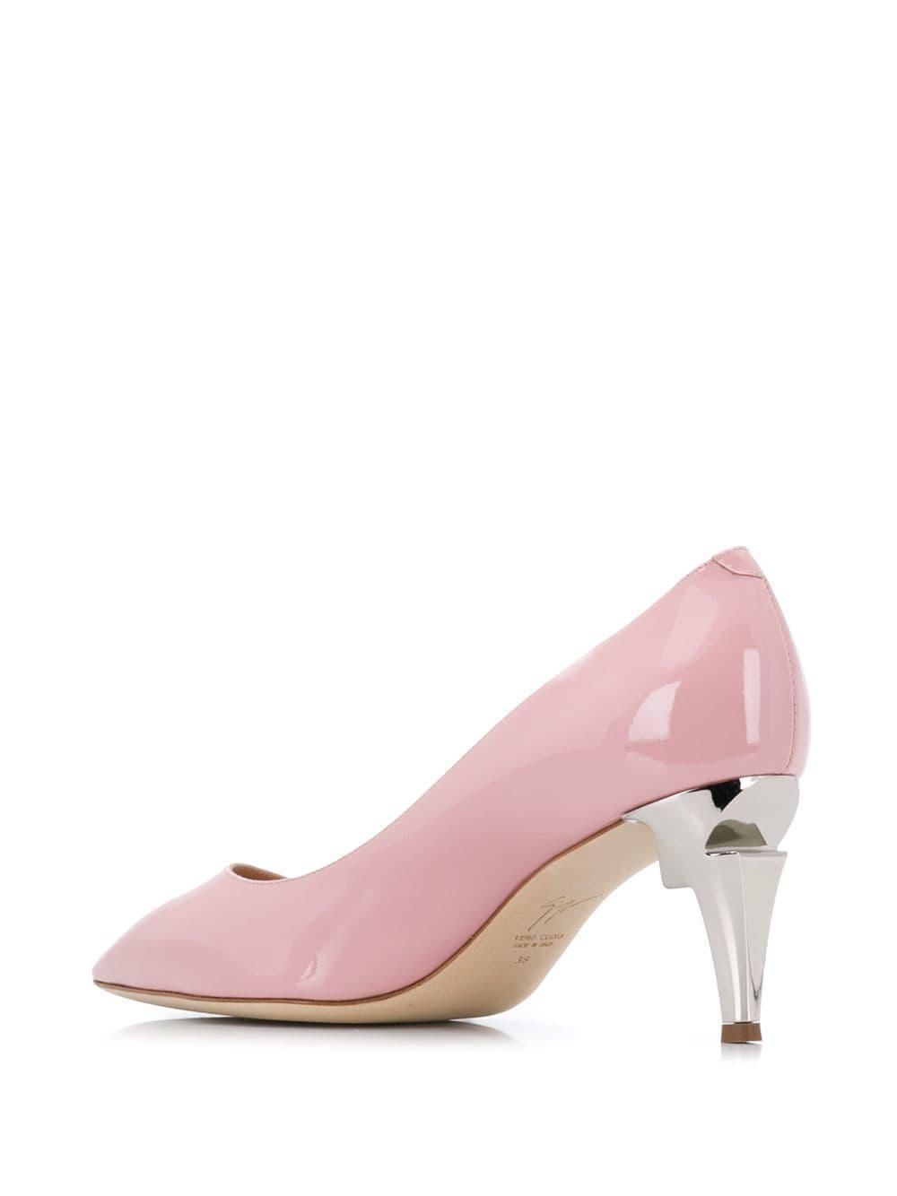 Zapatos con tacón en forma de G Giuseppe Zanotti de Cuero de color Rosa