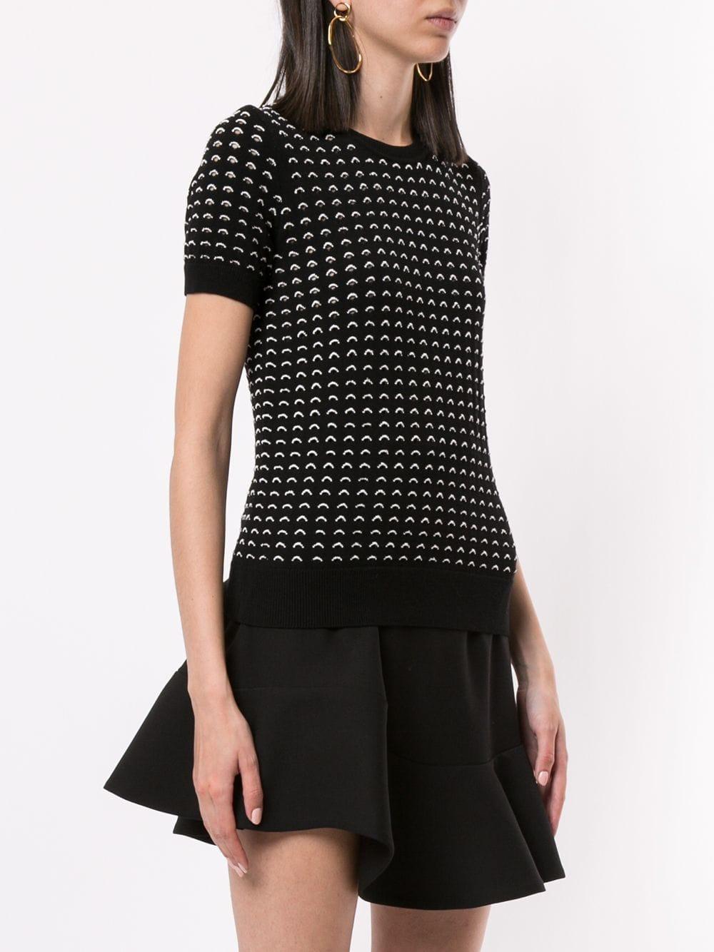 Jersey de punto con detalles en contraste Paule Ka de Tejido sintético de color Negro
