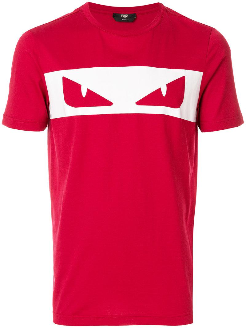 5008fa20a Fendi | Red Bag Bugs T-shirt for Men | Lyst. View Fullscreen