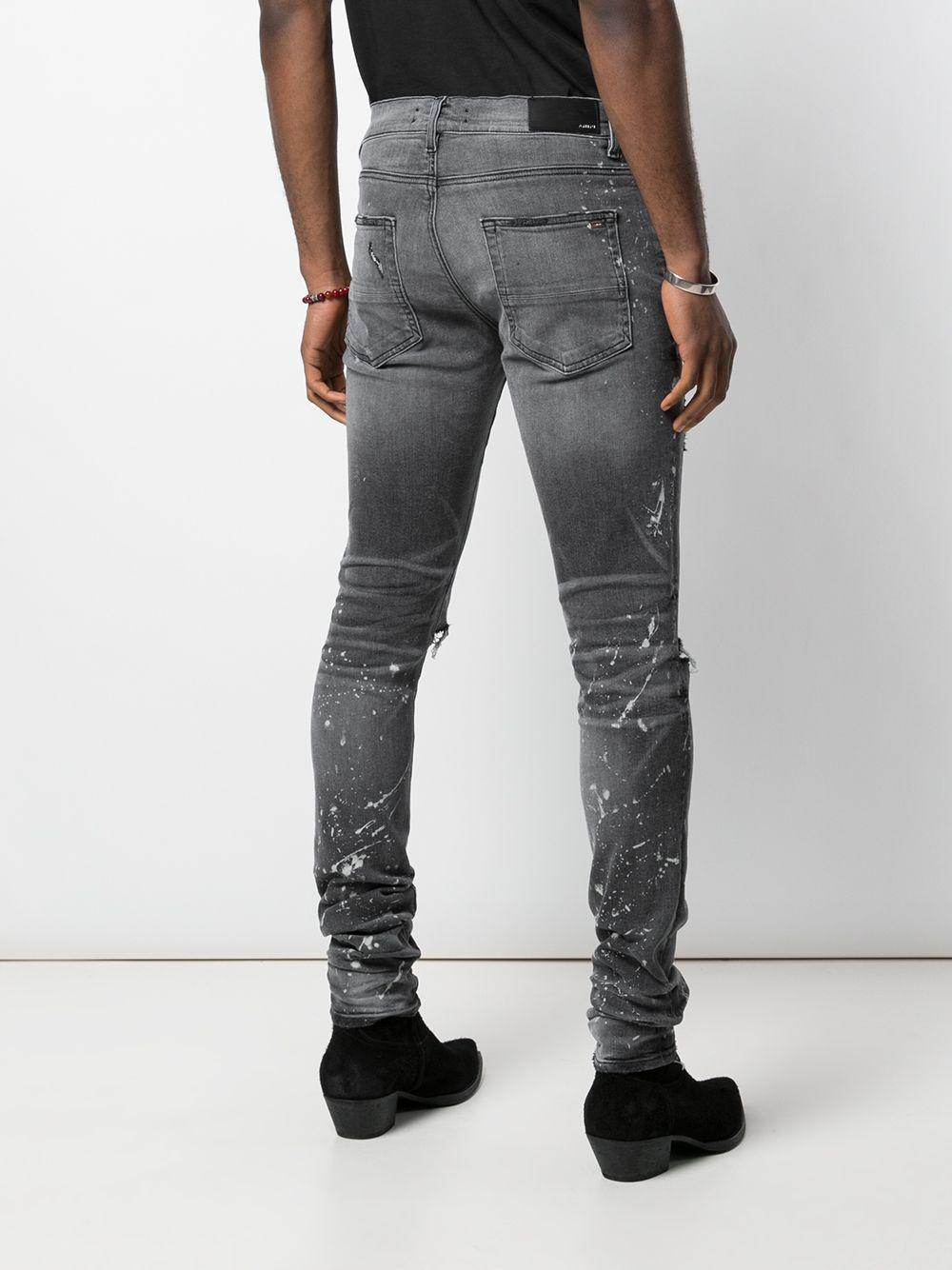 Amiri Denim Skinny Jeans in het Grijs voor heren