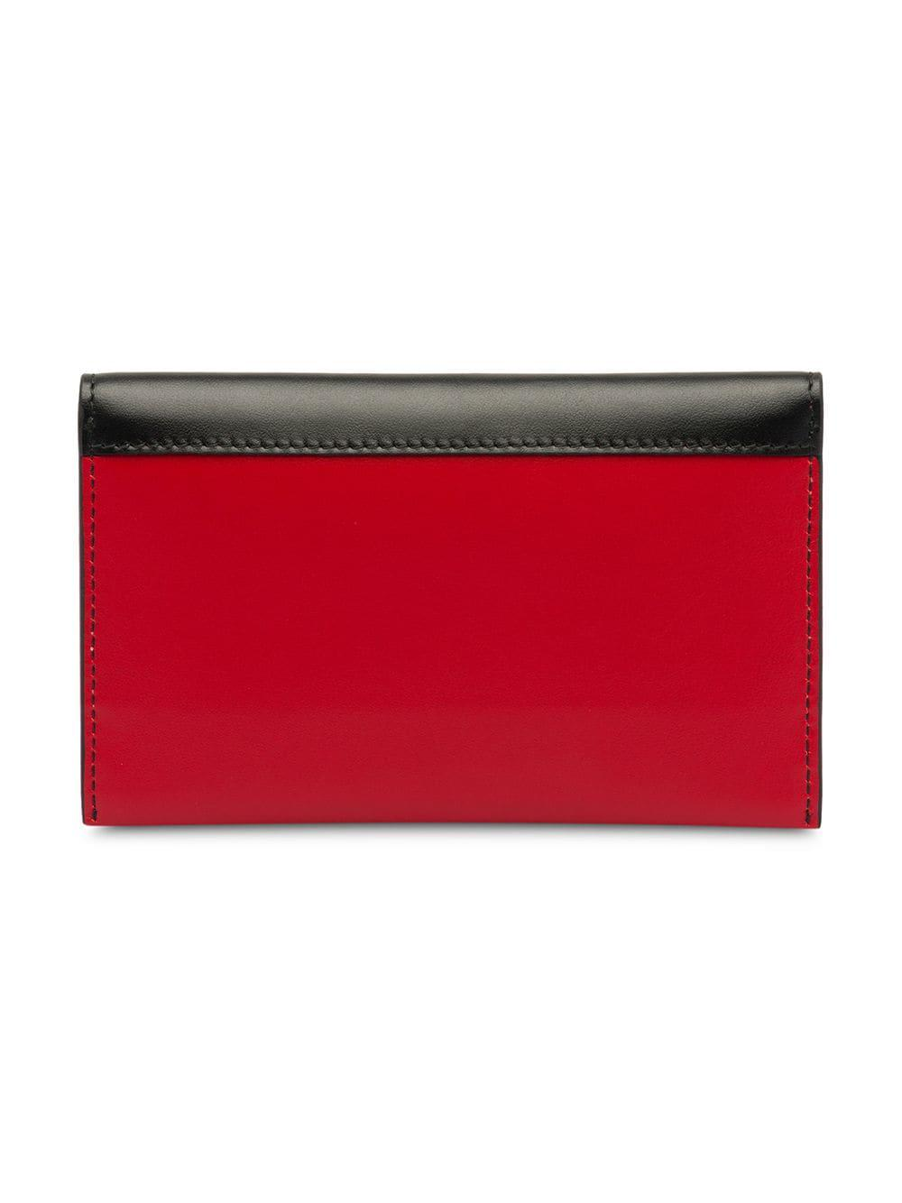 3362753db40f Prada Sybille Two-tone Leather Card Holder in Red - Lyst