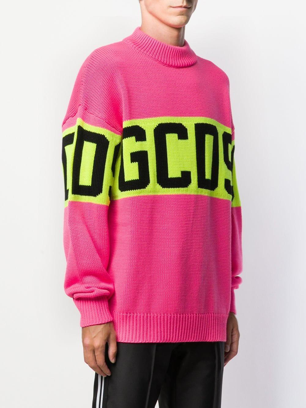 Gcds Trui Met Contrasterend Logo in het Roze voor heren