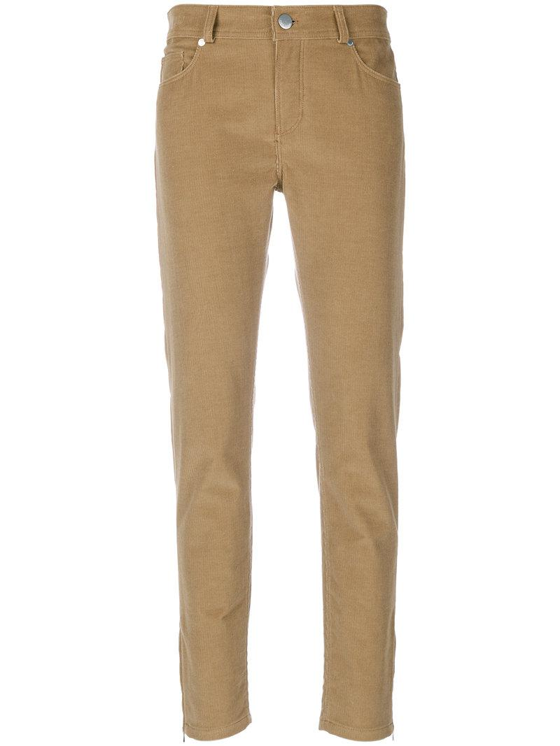 Lyst Loro Piana Slim Fit Corduroy Trousers In Brown